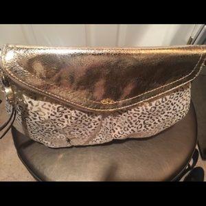 Authentic Gold Juicy Couture Leopard print bag